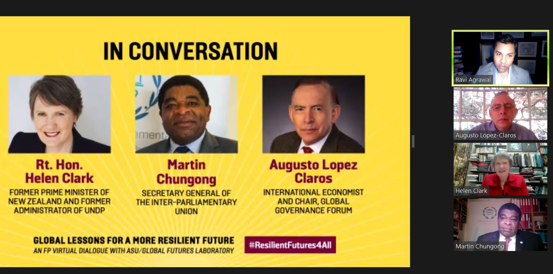 A Foreign Policy Journal and ASU/Global Futures Laboratory Virtual Dialogue